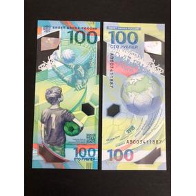 Billete Oficial De 100 Rublos Del Mundial De Rusia 2018