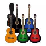 Guitarra Criolla Clasica Calidad Superior + Funda Pua Curso