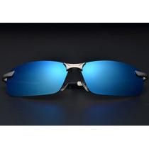 Oculos De Sol Polarizado Aviador Sport Espelhado Uv400 Azul