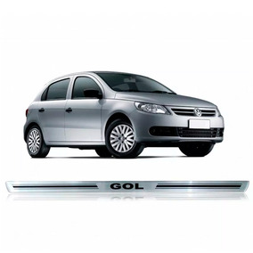 Jogo De Soleiras Vw Gol Preto Acessorio Carro Chevrolet