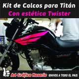 Honda Cg Titan Kit De Calcos Estética Twister
