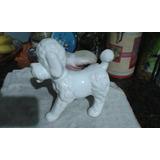 Figura Perro Caniche De Ceramica Yeso