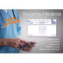 Recetas Médicas Desde 100 Pzas! 4 Tintas! Máxima Calidad
