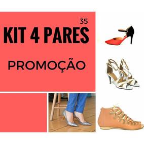 Kit Sandálias 4 Prs Atacado Revenda Feminino Sapatos N° 35
