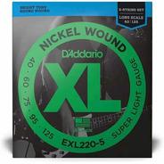 Encordoamento Baixo Daddario Exl220-5c Corda Daddario 5c 040
