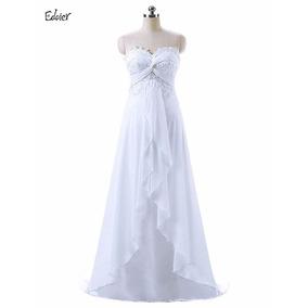 Vestido De Novia Strapless Hermoso Corte A
