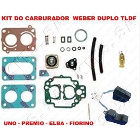 Kit Reparo Carburador Uno/premio/fiorin Weber Duplo 495 Tldf
