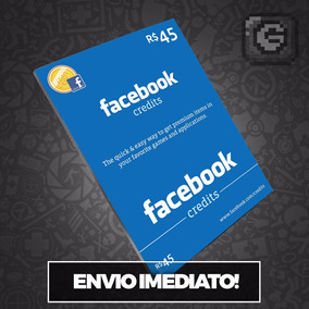 Cartão Pré-pago Facebook R$ 45 Reais - Compra Jogos App