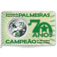 Medalha 70 Anos Do Mundial Do Palmeiras Cupro-nickel C.m.b.