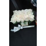 Arreglo Floral Caja De Rosas Regalo En Ese Dia Especial