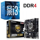 Combo Board Gigabyte Ga-h110m-h + Intel Core I3 7100