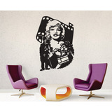 Quadro Aplique Famosos Hollywood Em Mdf 3mm Chaplin Marilyn