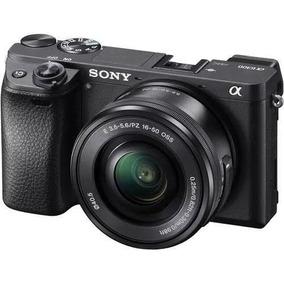 Maquina Sony A6300 Mirroless 4k Kit Aceita Microfone Externo