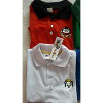 Camiseta Pólo Infantil Meninos Tigor Atacado Kit 10 Peças
