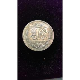 Moneda 50 Centavos 1945 Resplandor. Plata Ley 0.720