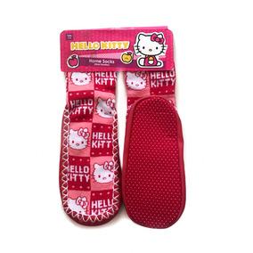 Calcetas Para La Casa Pantuflas Niña Hello Kitty 7 A 9 Años