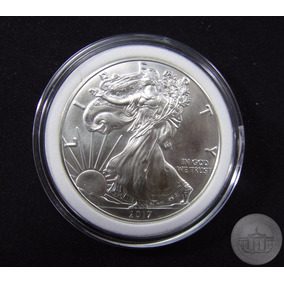 Moeda Prata .999 Pura 1 Oz (31.10gr) Silver Eagle 2017