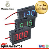 Voltimetro Digital Multivoltaje 12/24 Para Autos - 3 Colores
