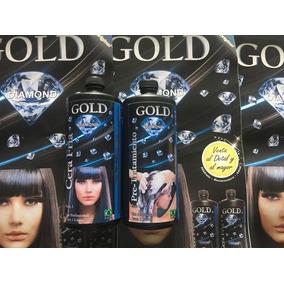 Cera Fria Capilar Gold Diamond Original Un Litro Paso 1 Y 2