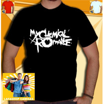 Camiseta My Chemical Romance Camisa Banda Rock Punk Metal