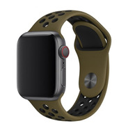 Pulseira Estilo Nike P/ Apple Watch 42/44mm - Olive Flak