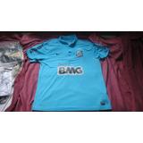 06f68f8fe30d5 Camisa Santos Centenário Azul Nike 2012 Tam Egg 79x66cm