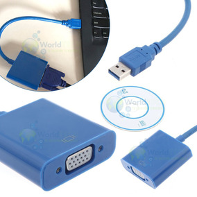Adaptador Convertidor Conversor Usb A Vga Laptop Mac Note Tv