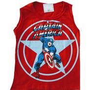 Kit C/5 Camiseta Verão Regata Infantil Personagens Heróis