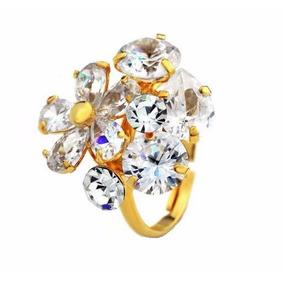 Swarovski Elements Oferta Anillo Flor Diamante
