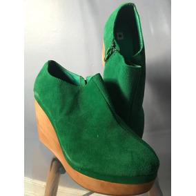 Botitas Zapatos Gamuza Y Madera Importados España N38 - Bazz