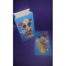 Bolsas De Papel Tipo Sobre De Mickey Mouse ( X10 Unidades)
