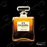 Placa Vintage King Mdf 27x27cm Chanel N5 Bcq.00522