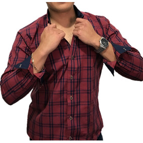 Camisa Slim Fit Casual Cuadros Chedron- Peaceful