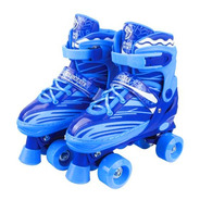 Patins 4 Rodas Retrô Clássico Azul Roller Skate C Ajuste