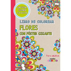 Libro De Colorear Flores Con Póster Gigante