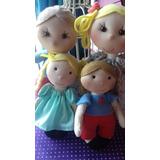 Muñecos De Tela Familia