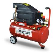 Compresor 25lts 2hp Mando Directo 220v 8 Bar Handyman