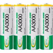 Baterias Aa Recargables 3000mah Paquete De 4 Ni-mh Bty