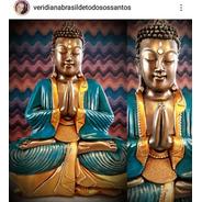 Buda Azul 43 Cm - Brasil De Todos Os Santos