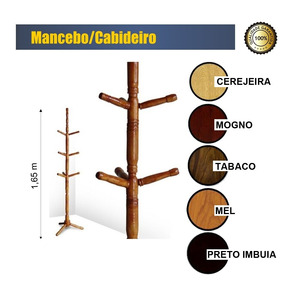 Cabideiro Mancebo Porta Casaco,chapéu Madeira