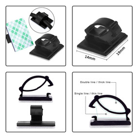 Organizador De Cables Clips Adhesivos Eboot Holder