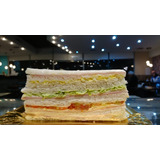 Sándwich De Miga Triple Familiar 14 X 7 Cm. Calidad Premium.