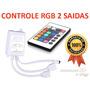 Controle E Receptor Infra Vermelho P/ Fita Led C/ 02 Saídas