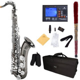 Saxofon Tenor Mendini Negro Plateado Envio Gratis