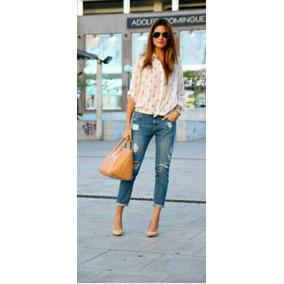 Jeans Boyfriend Dama Stradivarius Talla 24 Importado Moda