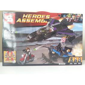Lego Super Heroe Vingadores Capitão América Marvel Peças
