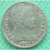 Moneda 1921 Colombia 2 Centavos Oferta # 2 Antigua