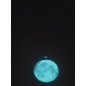 Collar Luna Llena Brilla En La Oscuridad Varios Colores