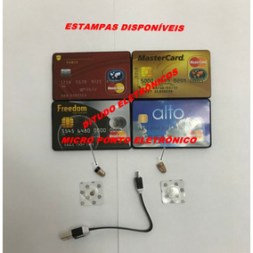 Cartão Espião Com Micro Ponto Eletrônico