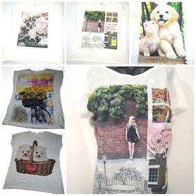 Camiseta Plus Size Blusa Manga Curta Estampada Gg G1 G2 G3